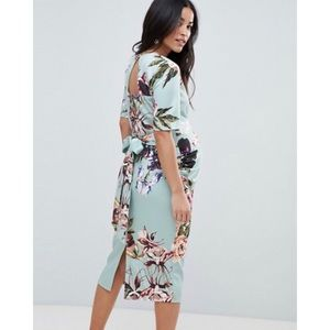 ASOS Maternity Floral Scuba Dress